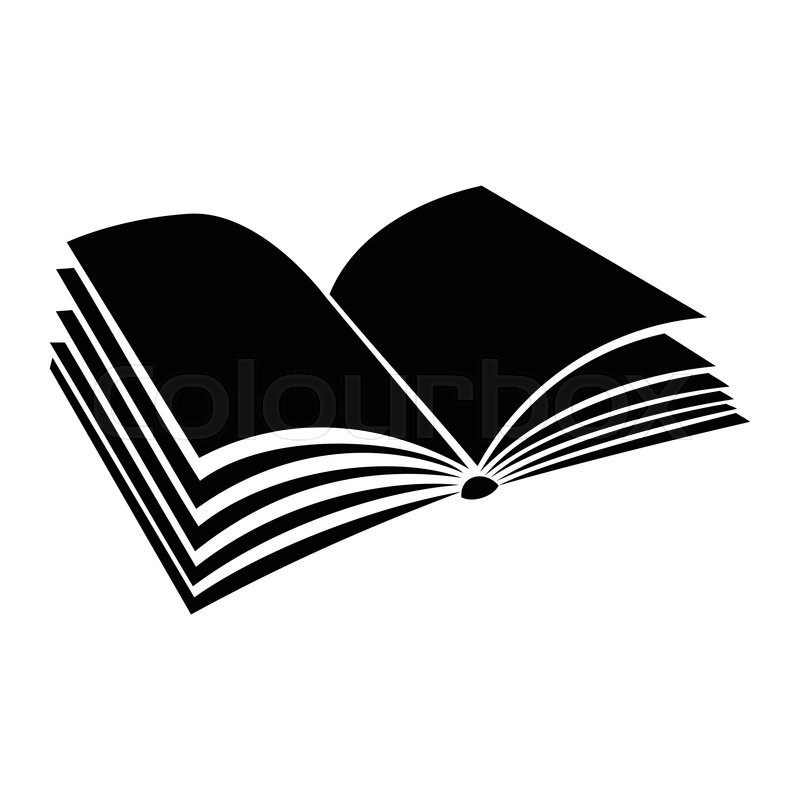 Opened Book With Pages Fluttering Black Simple Icon On A White Background