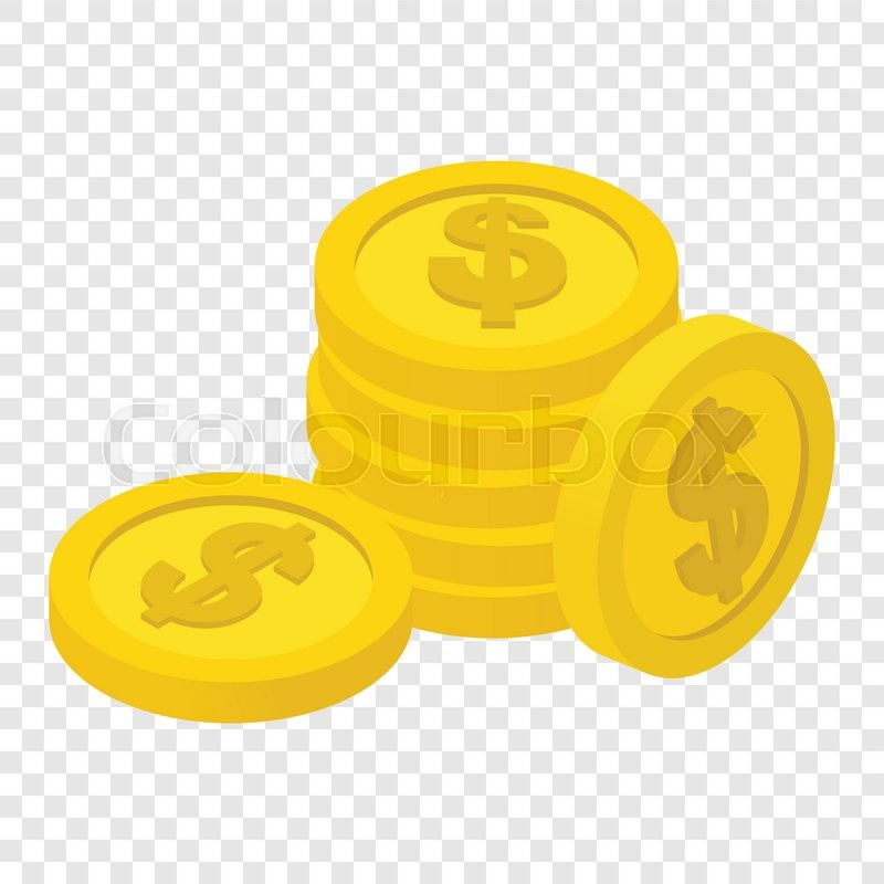 Coins Isometric 3d Icon On Transparent Background
