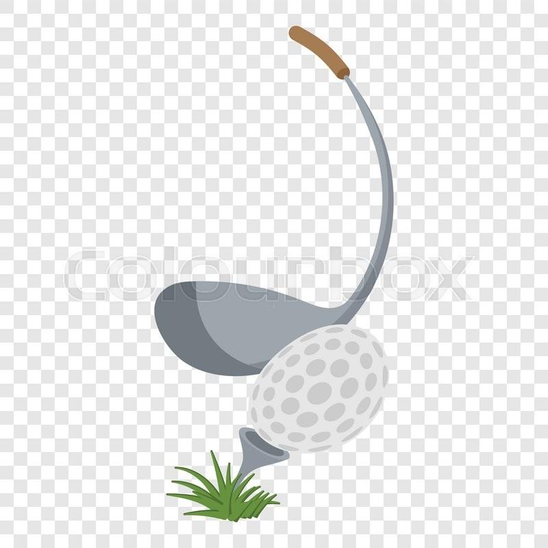 Golf Club And A Ball Illustration Stock Vector Colourbox