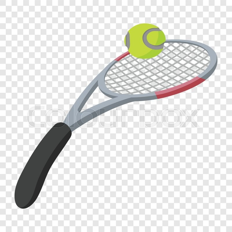Tennis Racket And Ball Illustration Stock Vector Colourbox