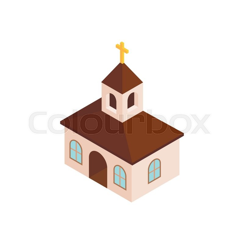 White House Blocks Release Of Mcgahn Documents To Congress: Church Isometric 3d Icon On A White ...