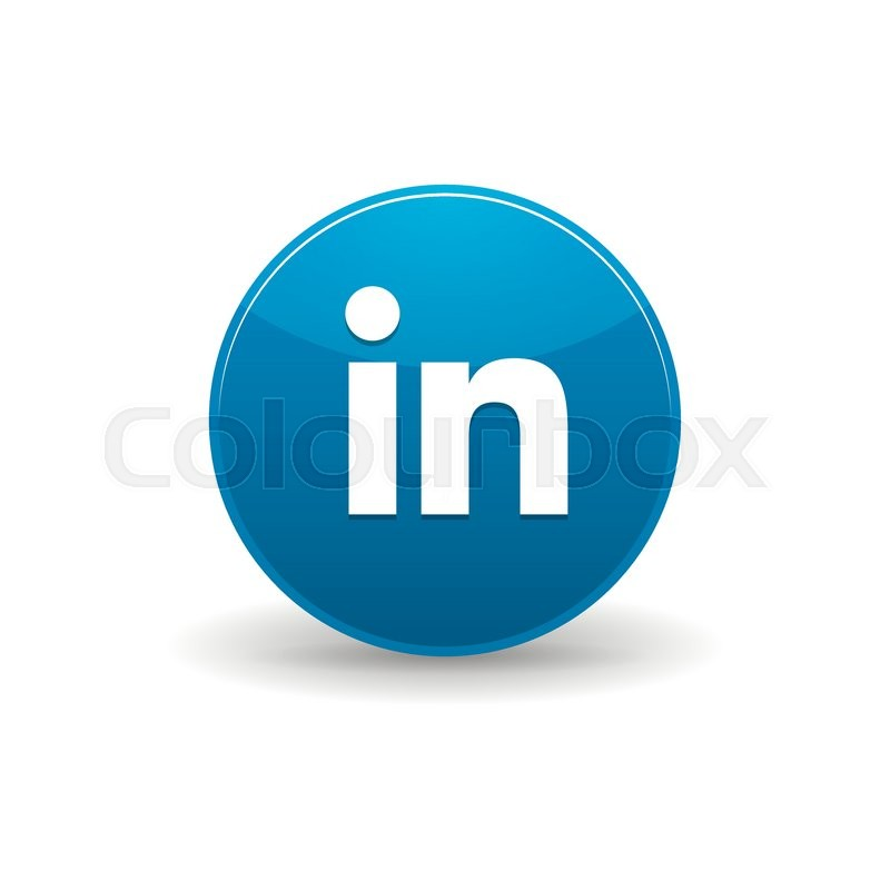 Linkedin Icon In Simple Style On A White Background Stock Vector