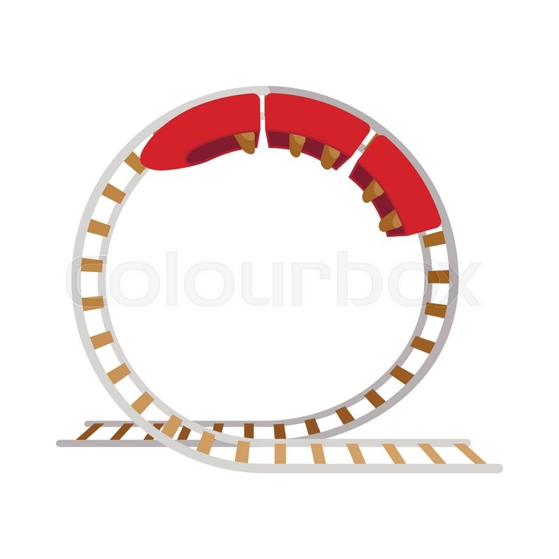 Roller Coaster Loop Cartoon