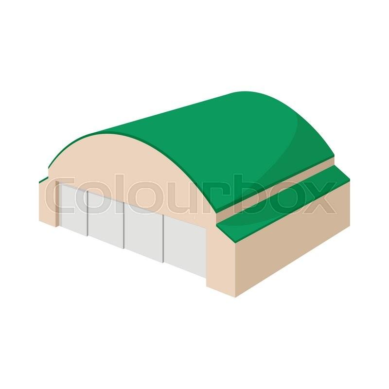 Hangar Building Cartoon Icon On A Stock Vector