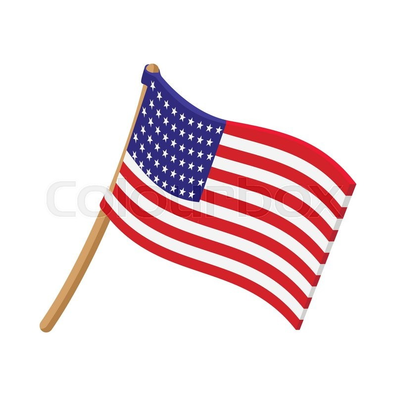 usa flag cartoon icon on white background stock vector colourbox rh colourbox com cartoon flask cartoon flame