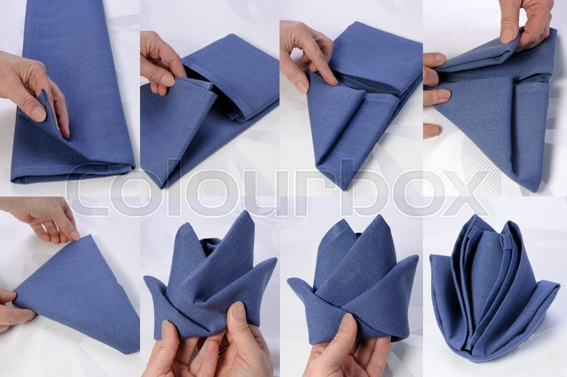 Step By Step Instructions On How To Fold A Napkin In The