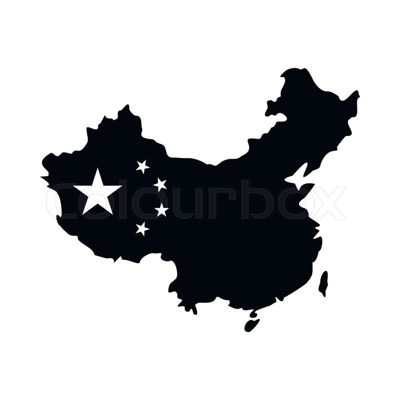 Map Of China Icon In Simple Style Stock Vector Colourbox