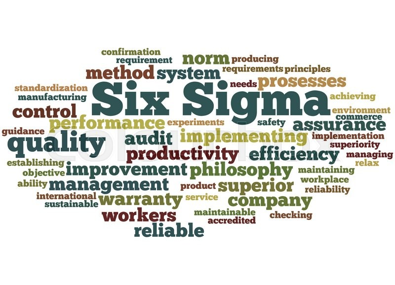 Six Sigma Improve The Quality Word Cloud Concept On White