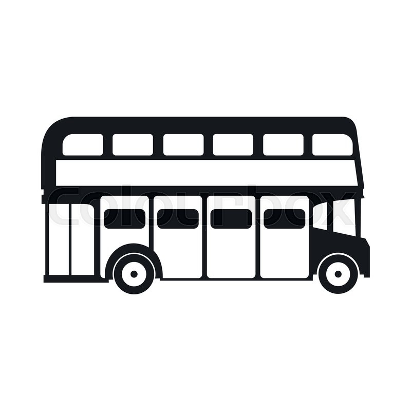 Line Drawing Bus : London double decker bus icon simple style stock vector