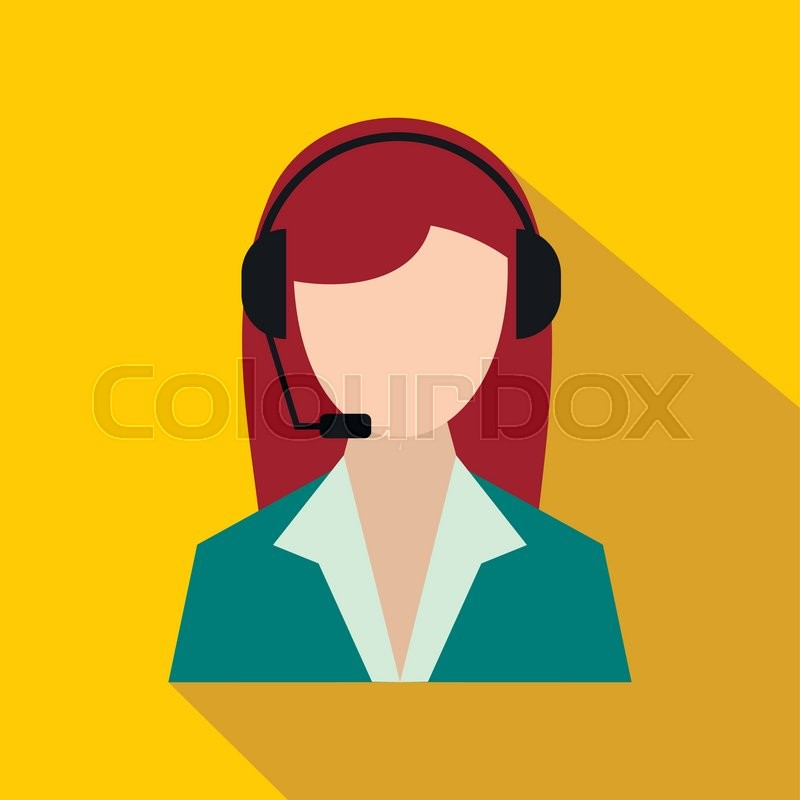 Support Phone Operator In Headset Stock Vector Colourbox