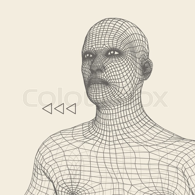 how to make a 3d person out of wire