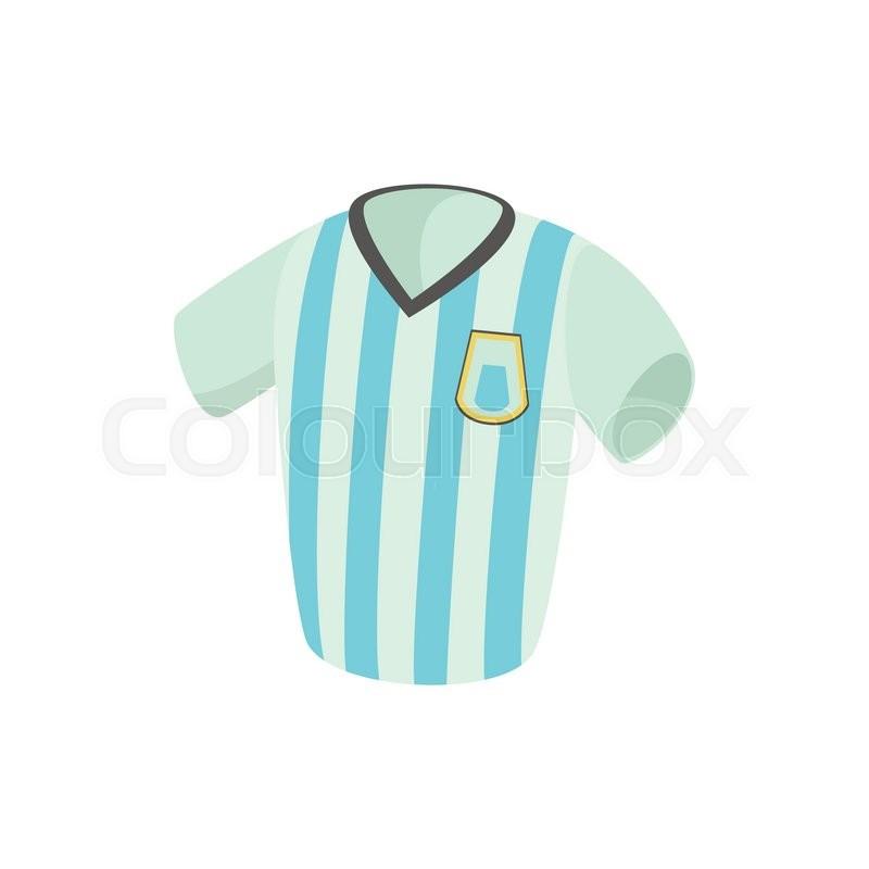 Argentina Soccer Jersey Icon Cartoon Stock Vector Colourbox