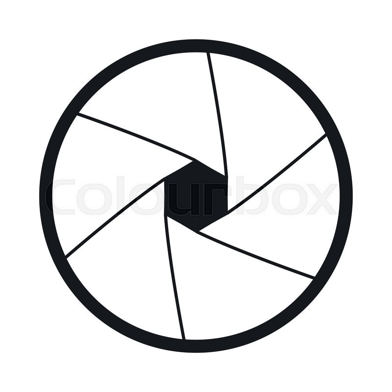 Camera Shutter Aperture Icon In Simple Style On A White