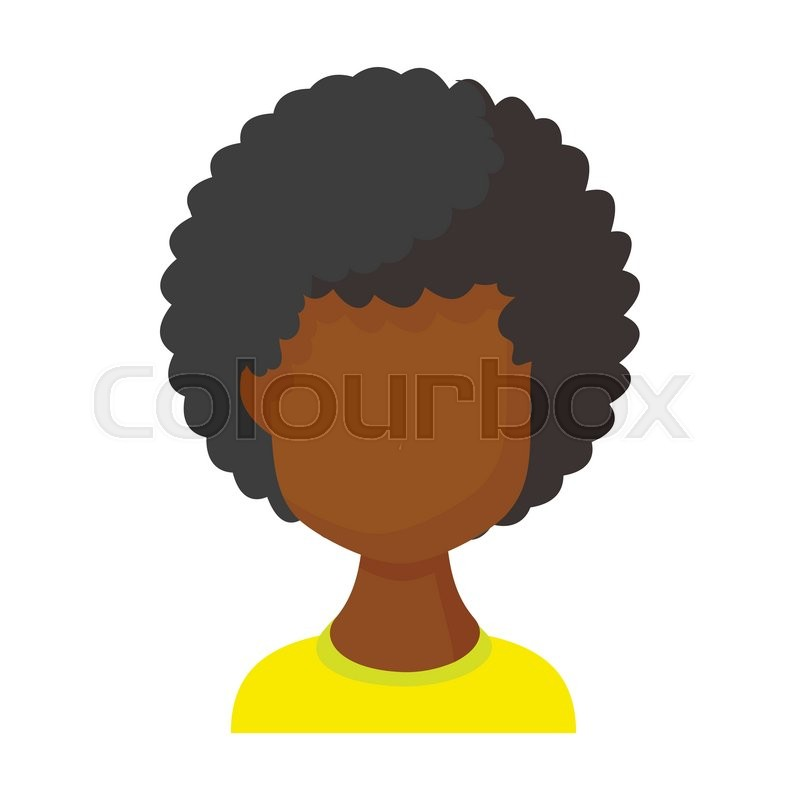 Avatar Black Woman Icon In Cartoon Stock Vector Colourbox