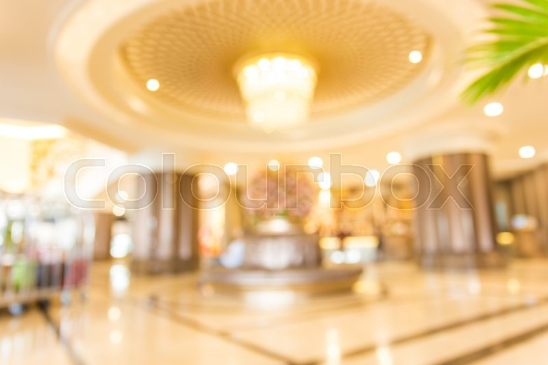 Blur Background Of Hotel Lobby Stock Photo Colourbox