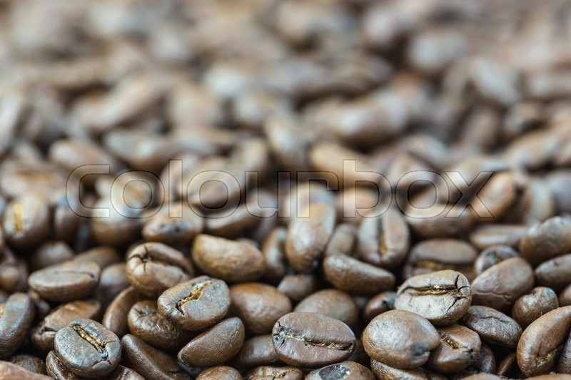Roasted coffee seed for fresh coffee background, stock photo