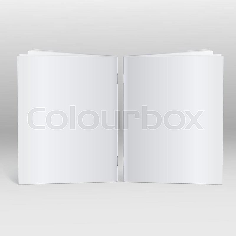 Blank Brochure Magazine Isolated On Grey Background For Your Design.  Identity Design, Corporate Templates, Company Style Mock Up. | Stock Vector  | Colourbox  Blank Brochure