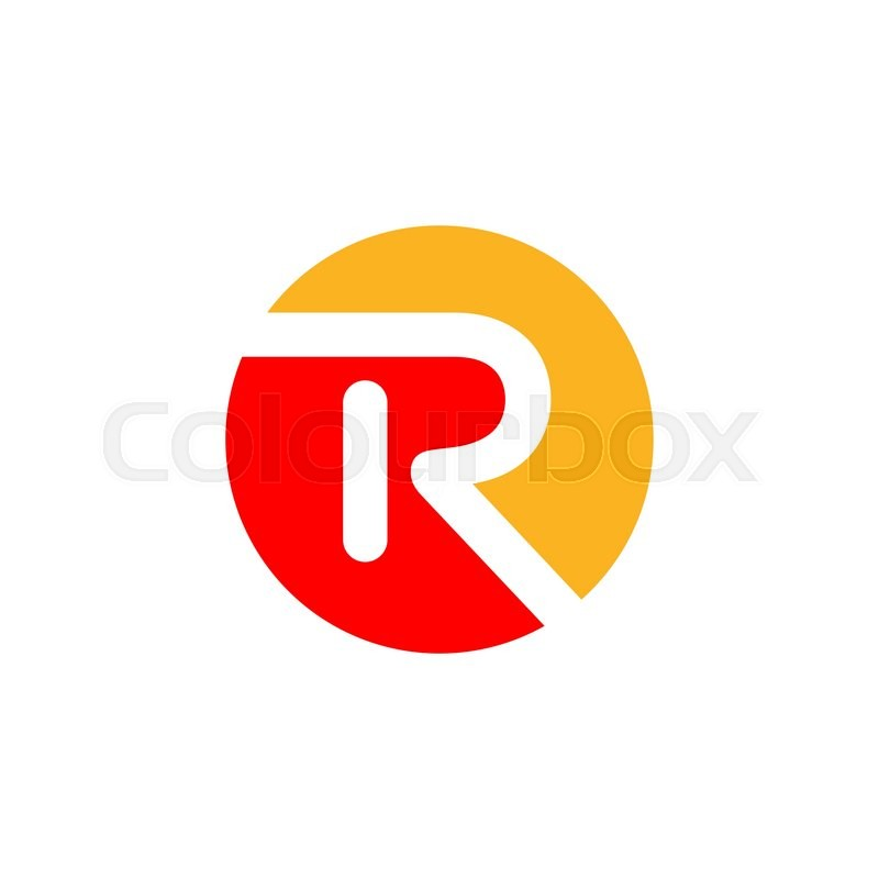 Abstract letter R logo design template. Vector letter ...