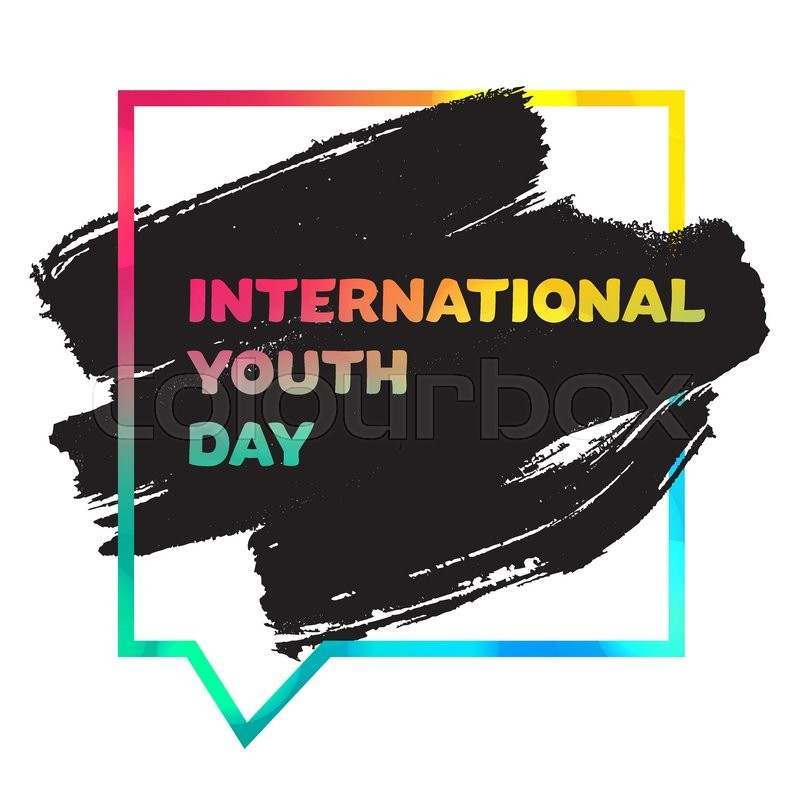 Vintage template card of international youth day for banner vintage template card of international youth day for banner brochure flyer greeting invitation cover design elements for poster stopboris Image collections