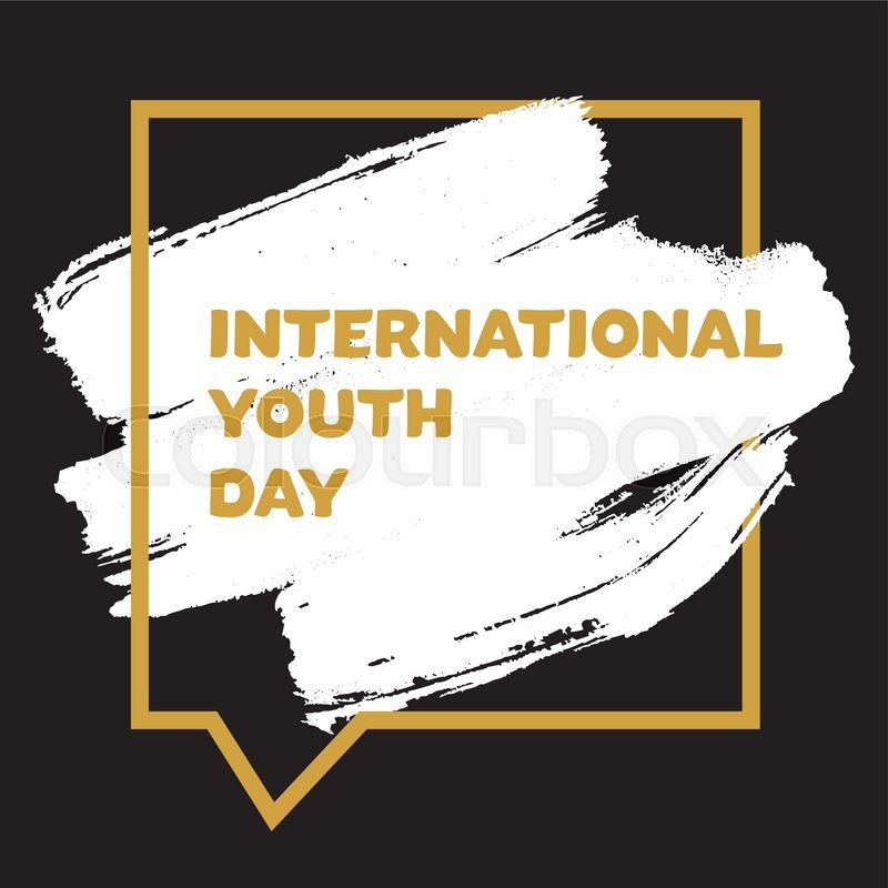 Vintage template card of international youth day for banner vintage template card of international youth day for banner brochure flyer greeting invitation cover design elements for poster stopboris Gallery