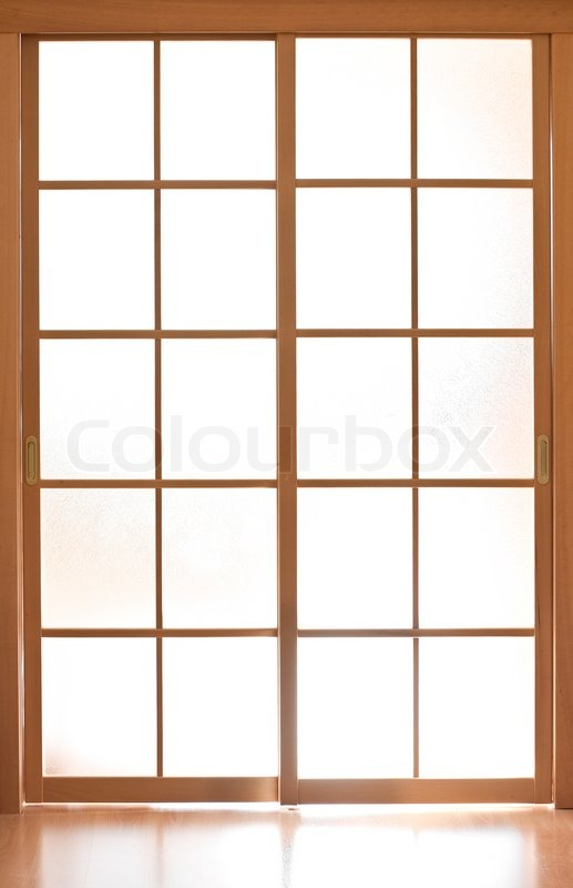 Glas Schiebet 252 R Im Japan Stil Stockfoto Colourbox