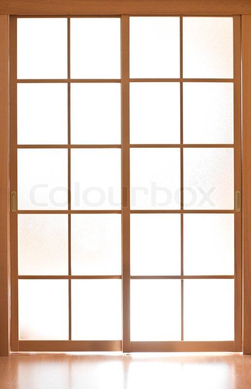 Sliding glass door in japan style stock photo  sc 1 st  Colourbox & Sliding glass door in japan style   Stock Photo   Colourbox