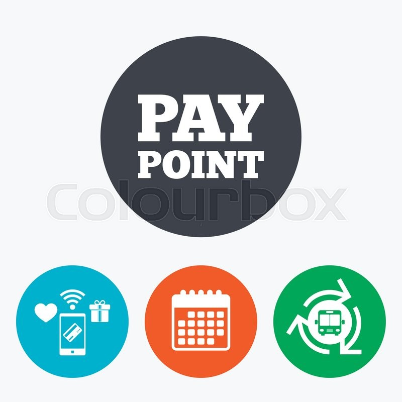 Cash And Coin Sign Icon Pay Point Symbol For Cash Machines Or Atm