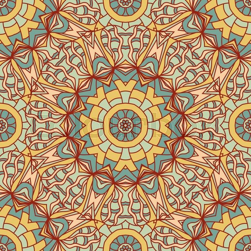 Seamless Vector Background With Mandala Islam Arabic