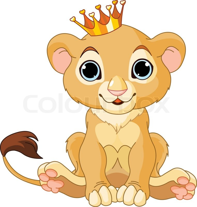 Lion Cartoon Character on Stock Vector Of  A Cute Character Lion King Cub