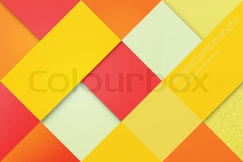 Abstract Colorful Background With Square And Triangle Frames Vector Geometric Fashion Wallpaper Template Material Design Backdrop Origami Style