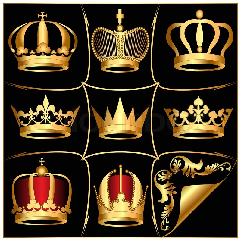 Gold crown background - photo#47