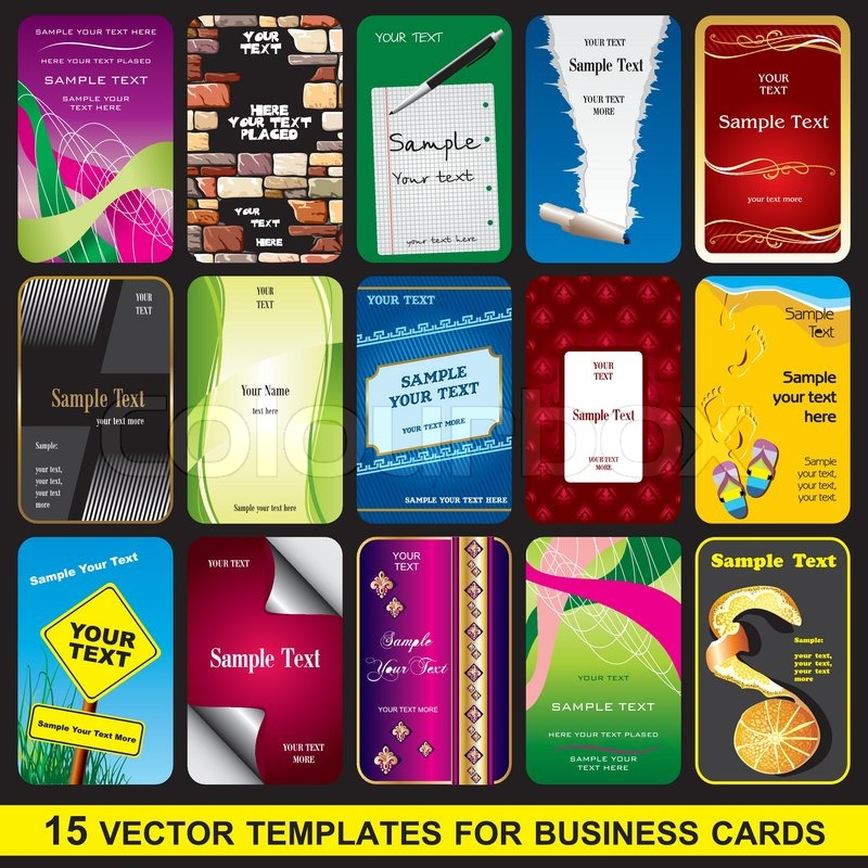 Set business card stock vector colourbox set business card vector reheart Images
