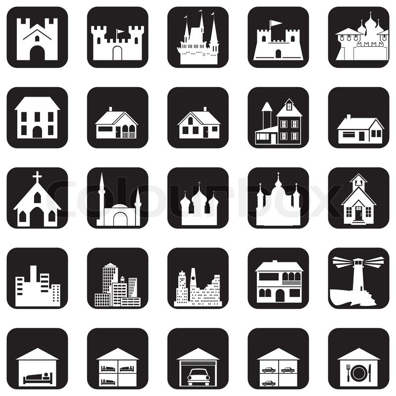 Architecture icons stock vector colourbox for Architecture icon