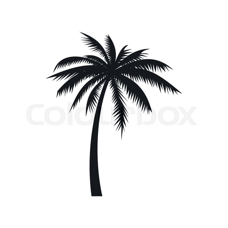 coconut palm tree icon in simple style on a white background stock rh colourbox com vector palm tree silhouette palm trees vector free download