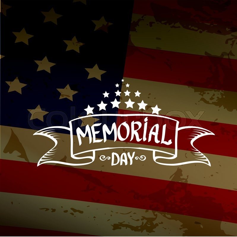 Happy Memorial Day vector background. Memorial day greeting card, vector