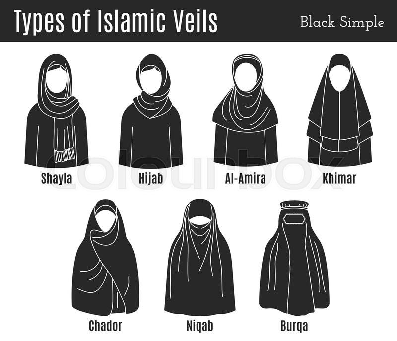 Stock vector of  Set of Islamic veils 01f226413b0