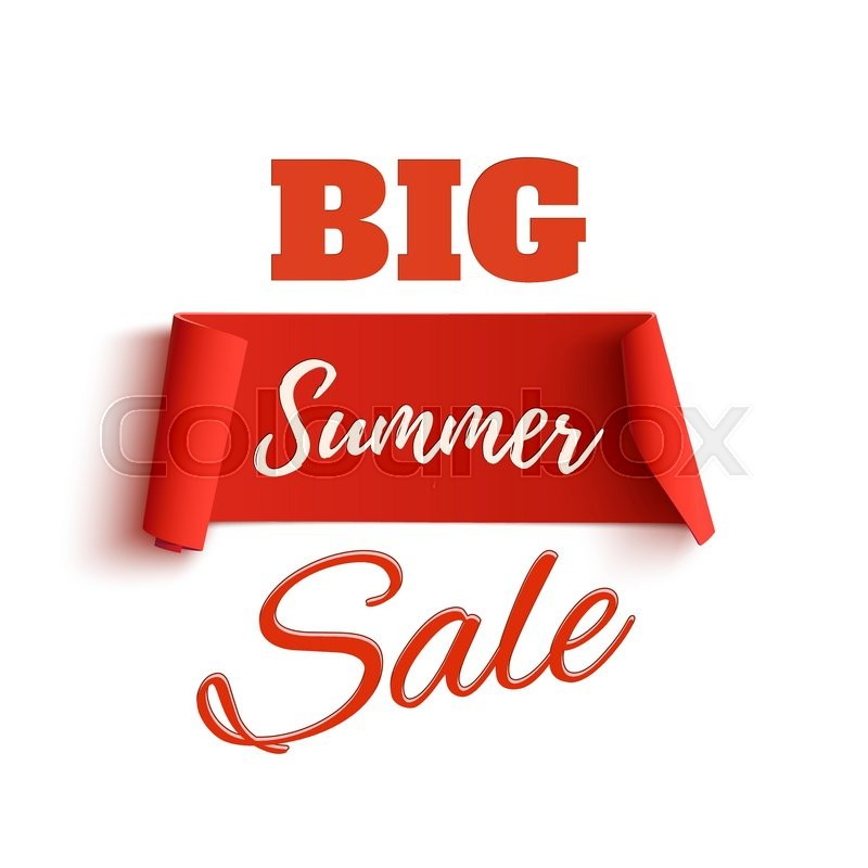 Big Summer Sale Poster Template, Isolated On White Background. Sale Tag.  Sale Banner. Vector Illustration, Vector  For Sale Poster Template