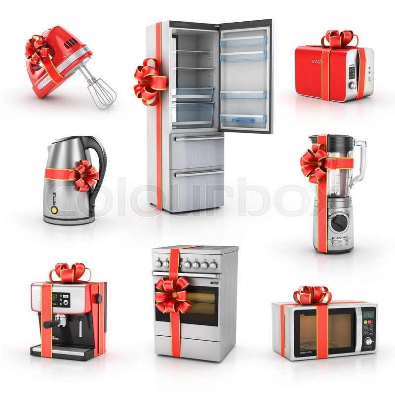 Stock Image Of U0027Set Of Kitchen Gifts. Blender, Mixer, Toaster, Coffee