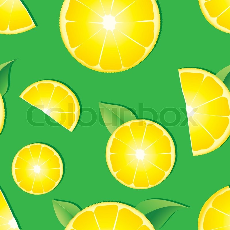 seamless background with lemon slices stock vector colourbox