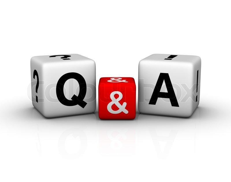Fragen und Antworten Würfel -Symbol | Stockfoto | Colourbox