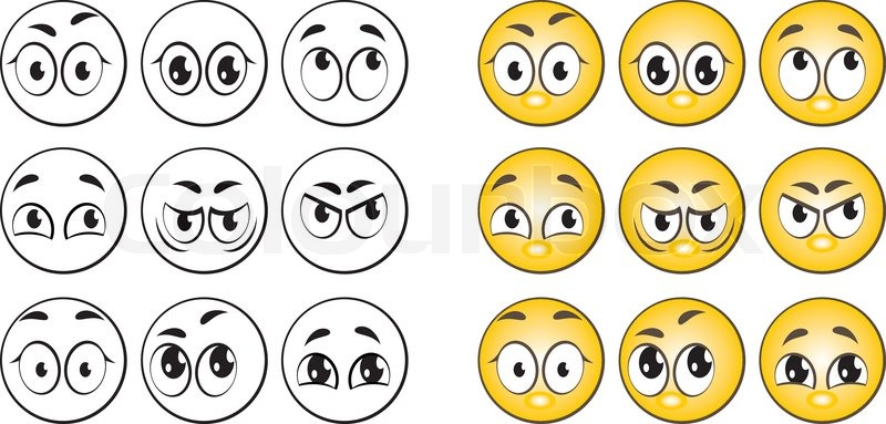 Cartoon Smiley Emoticon Stock Vector Colourbox