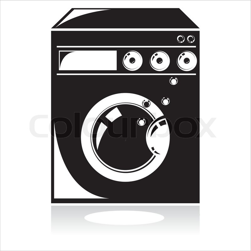 Wonderful Washing Machine Vector Icon Throughout Design Inspiration