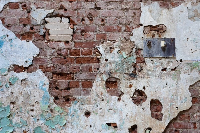Cracked Grunge Brick Wall Background Stock Photo Colourbox