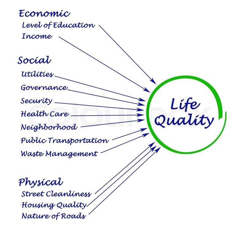 Diagram Of Quality Of Life Stock Photo Colourbox