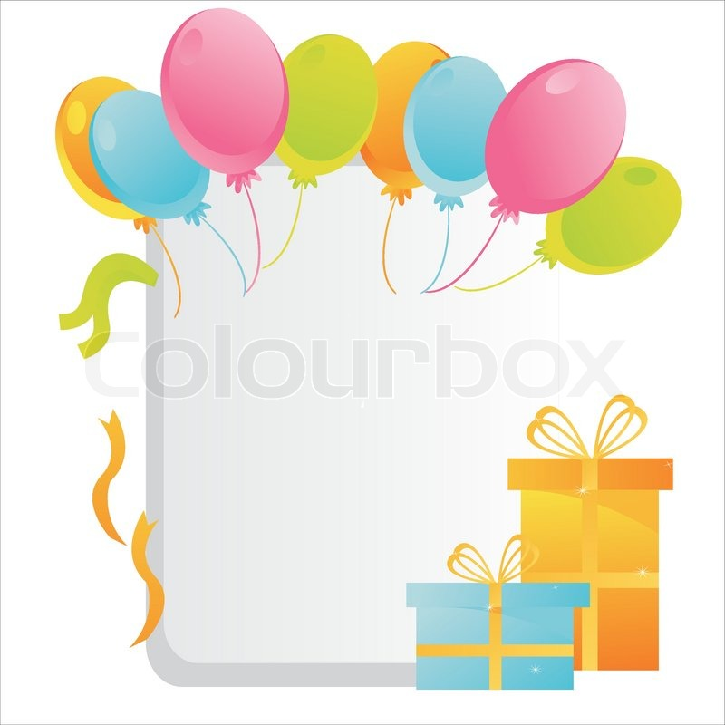 Colorful birthday frame | Stock Vector | Colourbox