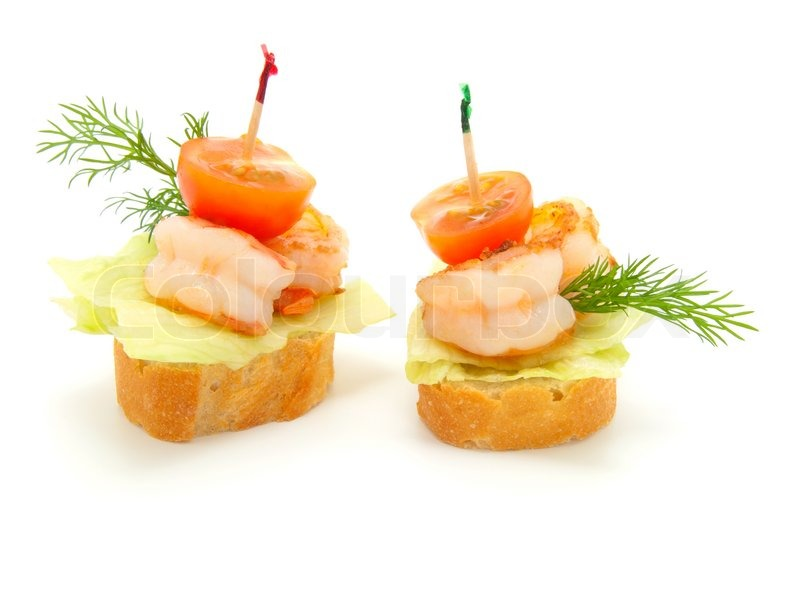 Canape made from shrimp stock photo colourbox for Canape suppliers