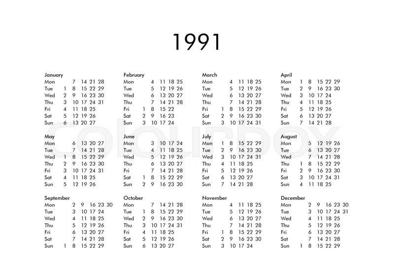 83 1991 Calendar Year Year In Fear Signed Calendar 1991 Cool