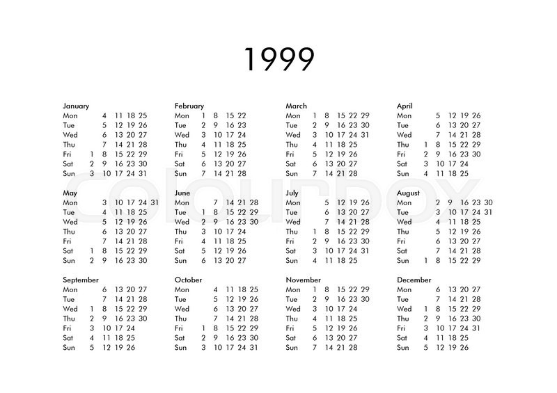 74 1999 Calenda Happy New Year 1999 Calendar Free Printable
