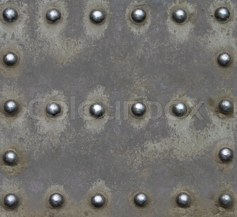Steel Plate With Brilliant Rivets Stock Photo Colourbox