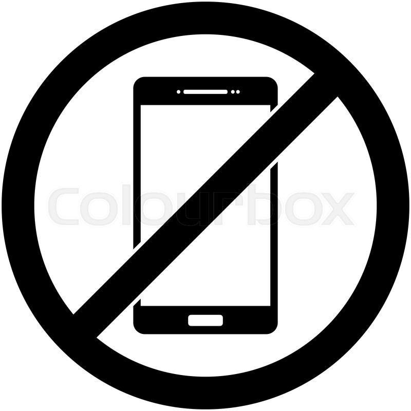 no cell phone sign black and white - Boat.jeremyeaton.co